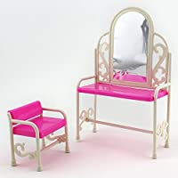 Qiyun Dressing Table and Chairセットforバービーベッドルーム家具