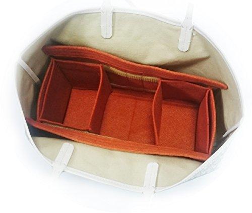 ゴヤール サンルイPM用フェルトバッグインバッグ 横幅33cm 高さ19cm マチ幅13cm (グレー)