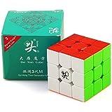 DaYan Guhong V3M Magnetic Magic Cube 大雁 魔方 3x3x3【磁石内蔵】FAVNIC 立体パズル 競技向け 3x3x3 ポップ防止 『日本語攻略本付〜スタンド付』中級者向け プレゼント (マルチカラー)