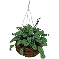KESOTO 1/12ドールハウス 籐かご 吊り植物 盆栽 ミニチュア インテリア ルーム 装飾 2個