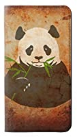 JPW2759XX3 パンダは竹を食べる Panda Eat Bamboo Vintage Texture Sony Xperia XZ3 フリップケース