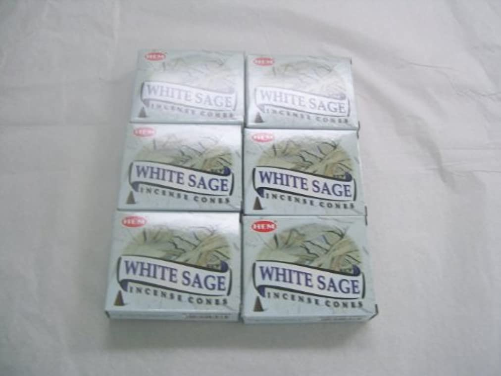 苛性マッシュキャンディーHemホワイトセージ香コーン、6パックの10 Cones = 60 Cones