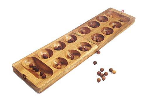 マンカラ木製Mancala :–木製ボードゲームKalahaゲーム