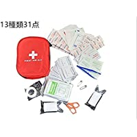 防災 医療 救急セット ファーストエイドキット 緊急応急セット 防災セット 救急箱 応急処置12種類32点セット 学校 アウトドア 旅行 地震 非常時用 家庭 職場 アウトドア等用 赤バッグ