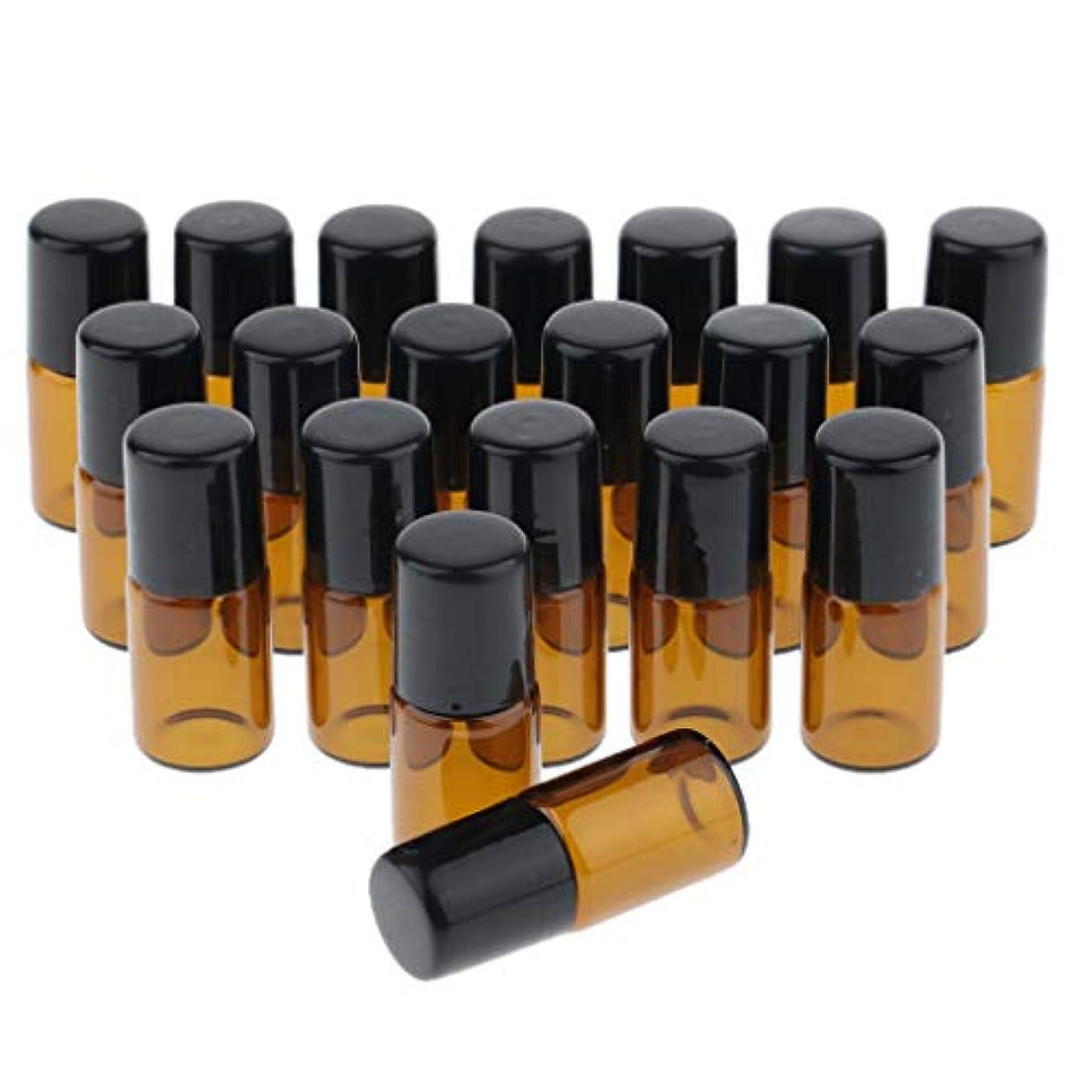 上昇軽量解明約0個 ローラーボールボトル ガラスボトル コスメ 香水 オイル 小分け容器 旅行小物 3サイズ選べ - 2ml