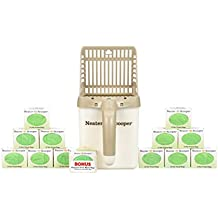 NEATER PET BRANDS Neater Scooper (Tan) and 180 Count Refill Bag Bulk Pack Value Bundle - Cat Litter Sifter Scoop System with Extra Waste Bags