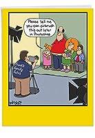 エアブラシ加工家族 - 封筒付き大型 母の日カード (特大 8.5 x 11インチ) - 娘からの面白い家族のジョーク母の日カード - 文房具 感謝 ノートカード ママ J6818MDG