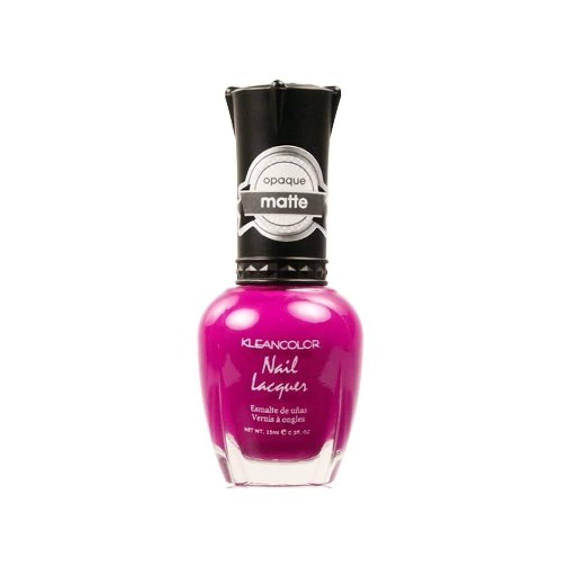 伝導最初返還(6 Pack) KLEANCOLOR Matte Nail Lacquer - Berry Twist (並行輸入品)