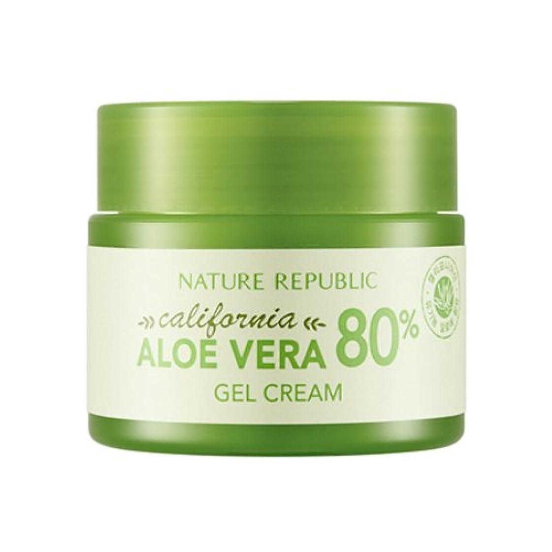 パイ埋めるスポンジ[ネイチャーリパブリック] Nature Republic カリフォルニアアロエベラ80%のゲルクリーム California Aloe Vera 80% Gel Cream [並行輸入品]