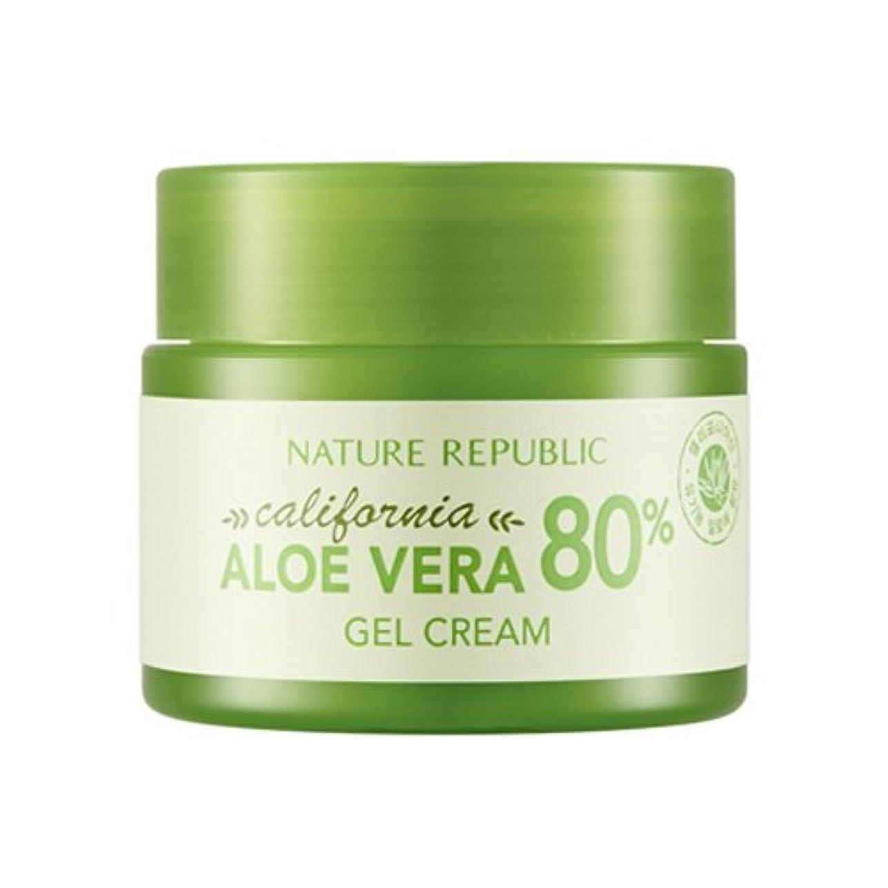 メナジェリー補充位置する[ネイチャーリパブリック] Nature Republic カリフォルニアアロエベラ80%のゲルクリーム California Aloe Vera 80% Gel Cream [並行輸入品]