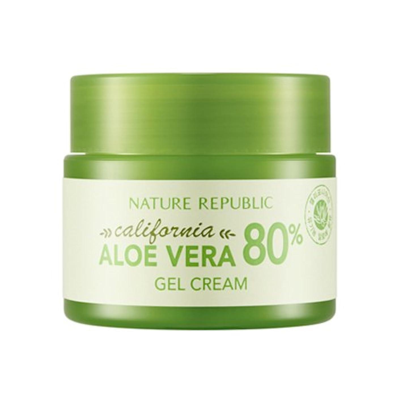 ストライプ何階層[ネイチャーリパブリック] Nature Republic カリフォルニアアロエベラ80%のゲルクリーム California Aloe Vera 80% Gel Cream [並行輸入品]