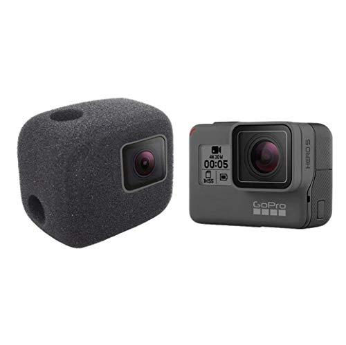 GoPro HERO5/6/7対応 防風ケース 録音ノイズ対策 騒音低减 スポンジ製カバー ケース ブラック