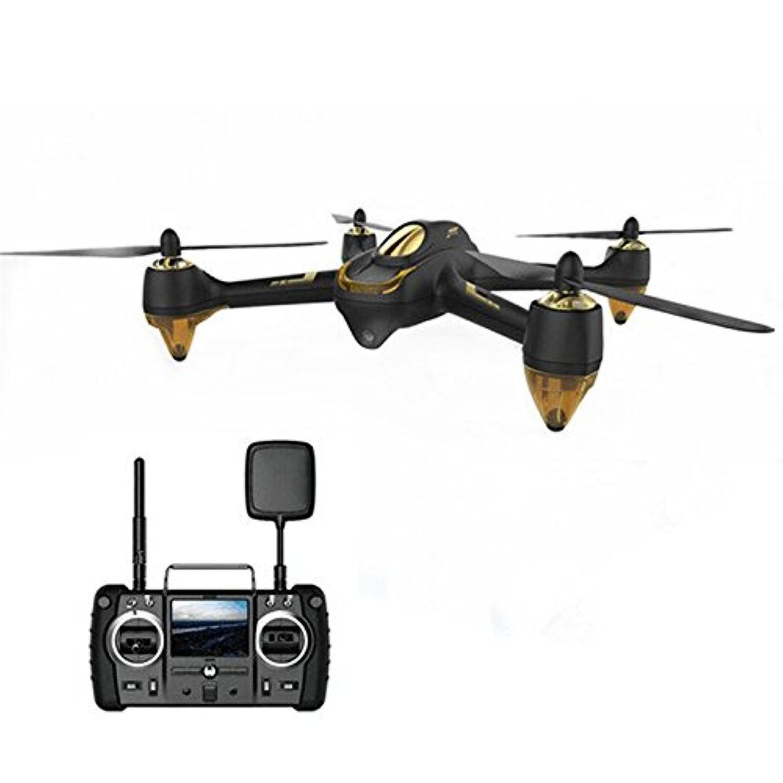 RaiFu Hubsan ドローン H501S H501SS X4 Pro 1080P HDカメラ付き GPS搭載 5.8G FPV リアルタイム ヘッドレスモード ブラシレスモーター フォローミーモード ヘリコプター Lipoバッテリー付 送信機付 ブラック