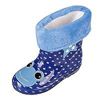 Zhuhaitf 高品質 レインブーツ High Quality Kids Unisex Fleece Lined Rainboots Waterproof Rain Boots