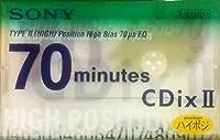 SONY カセットテープ 70分 CDix II ハイポジ バッテリーセーブ クリーニング 機能付 C-70CDX2F