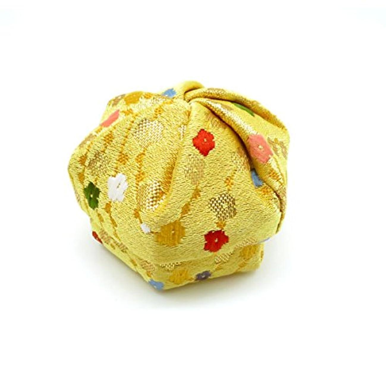 目立つ雑草海峡ひも布香盒 黄系 紙箱入