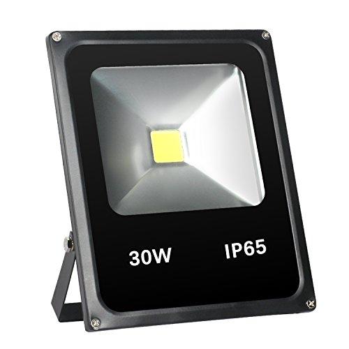 FEISHILAN LED投光器 30W LEDフラッドライト 昼光色 防水防塵 広角130度 LEDライト ハイパワー 高出力 看板灯 集魚灯 作業灯に/家庭用コンセントでOK!
