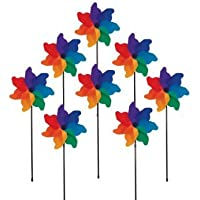 In the Breeze Poly Petal Pinwheel Spinners, 8-Piece おもちゃ [並行輸入品]
