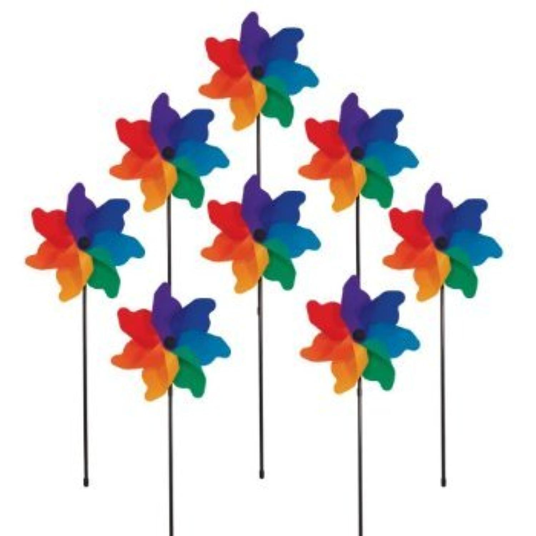 In the Breeze Poly Petal Pinwheel Spinners, 8-Piece おもちゃ [並行輸入品]