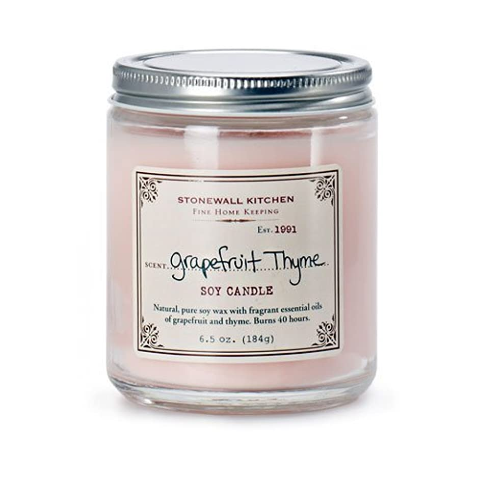 Stonewall Kitchen Soy Candle、グレープフルーツタイム、6.5オンス 6.5 Ounce ピンク 5625083