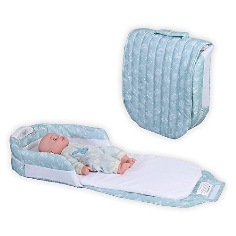 (Newox) ベビーベッド ベッドインベッド 折りたたみベッド 揺りかご コンパクト 折りたたみ 持ち運びやすい (半×ブルー)