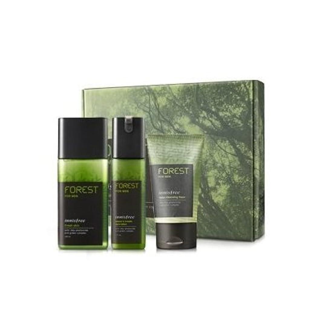 地下室流す雲KOREAN COSMETICS, Innisfree, Forest for men grooming set (Fresh Skin 180ml + sebum & Trouble Zero Lotion 120ml...