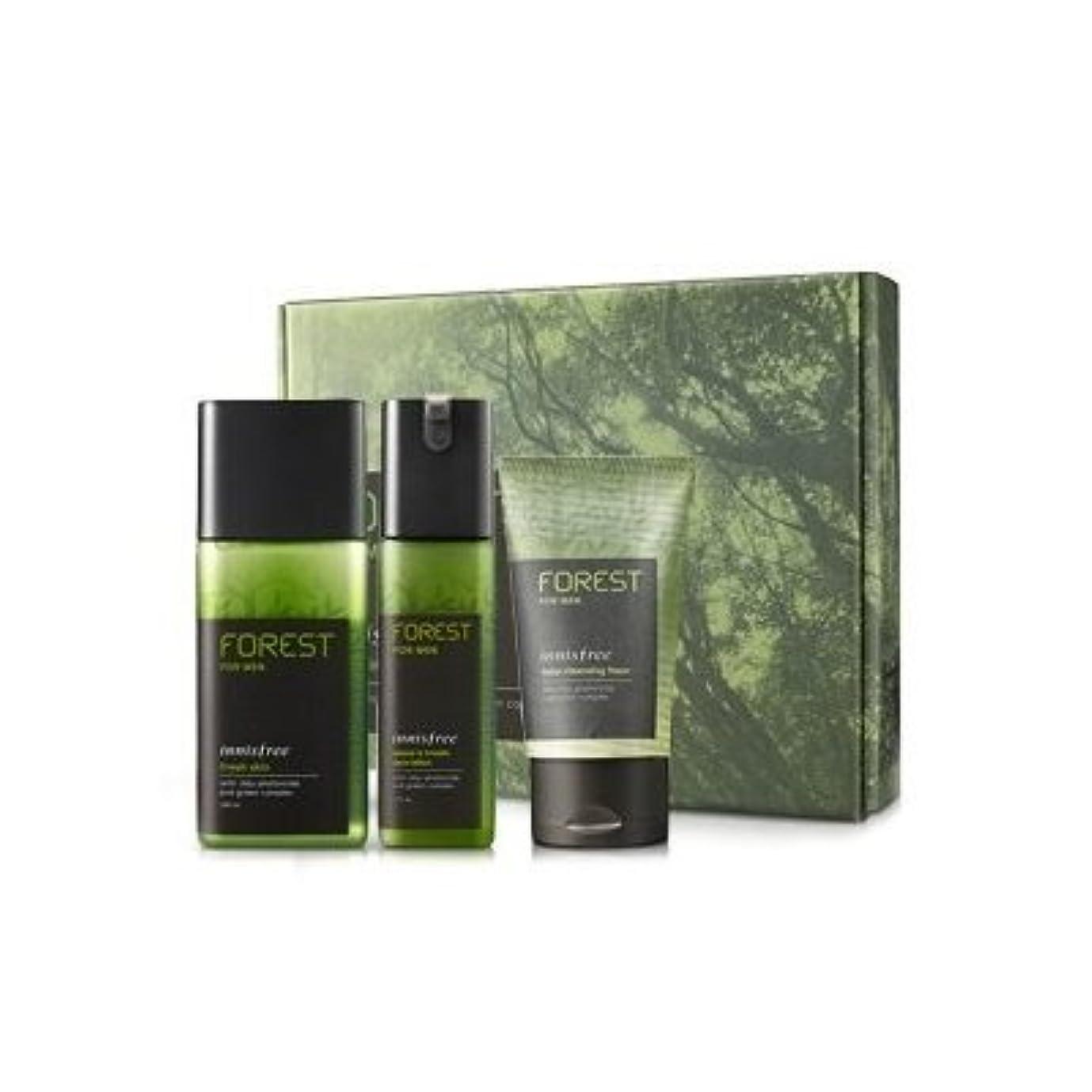成分資格肘KOREAN COSMETICS, Innisfree, Forest for men grooming set (Fresh Skin 180ml + sebum & Trouble Zero Lotion 120ml...