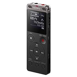 ソニー SONY ステレオICレコーダー ICD-UX560F : 4GB リニアPCM録音対応 ブラック ICD-UX560F B