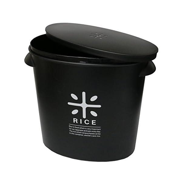 パール金属 日本製 米びつ 5kg ブラック ...の紹介画像3