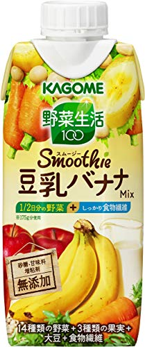 カゴメ 野菜生活100 Smoothie(スムージー) 豆乳バナナミックス 330ml×12本