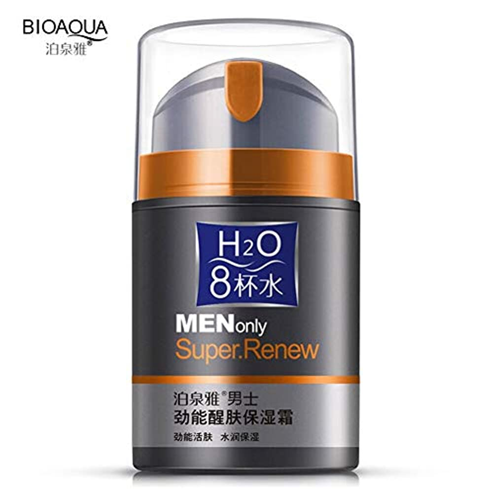 最適メディカルムスBIOAQUA男性保湿オイルコントロールフェイスクリームアンチリンクルデイクリーム寧ケアブラックヘッドの取り外し50グラム