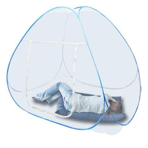 蚊帳 大型サイズ ワンタッチ式 (かや) 小さくたたんでコンパクト収納!内寸200cm×140cm×...