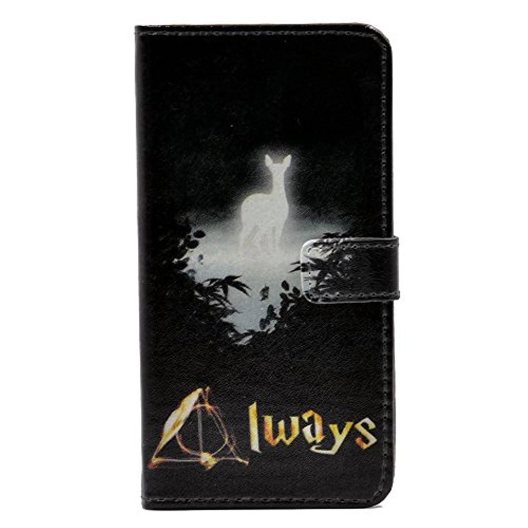 貞レース別れるiPhone 6 Plus用ケース Deer Always Desgin スリム 財布 カード フリップ スタンド レザー ポーチ ケース カバー Apple iPhone 6 Plus、iPhone 6S Plus(5.5インチ)用