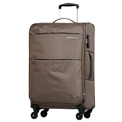 M型 カーキ / AIR6327(solite)スーツケース キャリーケース ソフト TSAロック搭載 中型