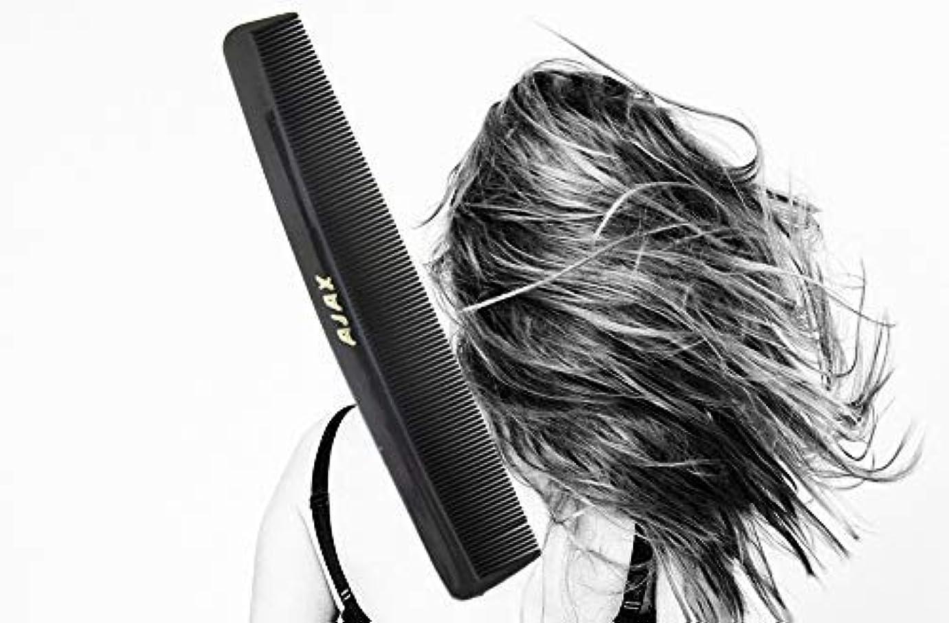 黒くする蒸発誓約Ajax Unbreakable Hair Combs Super Flexible Pocket Sized - Proudly Made in the USA (Pack of 6) [並行輸入品]