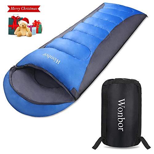 Wonbor 寝袋 シュラフ 封筒型 スリーピングバッグ -...