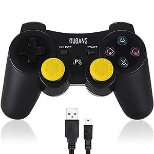 PS3 コントローラー ワイヤレス デュアルショック3 ブラック USBケーブル付,6軸 Playstation 3,プレイステーション3 コントローラー