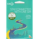 【CMLink】アメリカ USA 4G-LTE/3G 7日間(168時間) 500MB/日(500MB越えても384kbpsにて無制限通信可能) データ通信 SIMカード GLOBAL DATA SIM Card