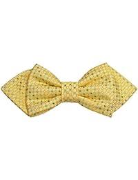 ポール?マローンシルク蝶ネクタイ。黄色と緑