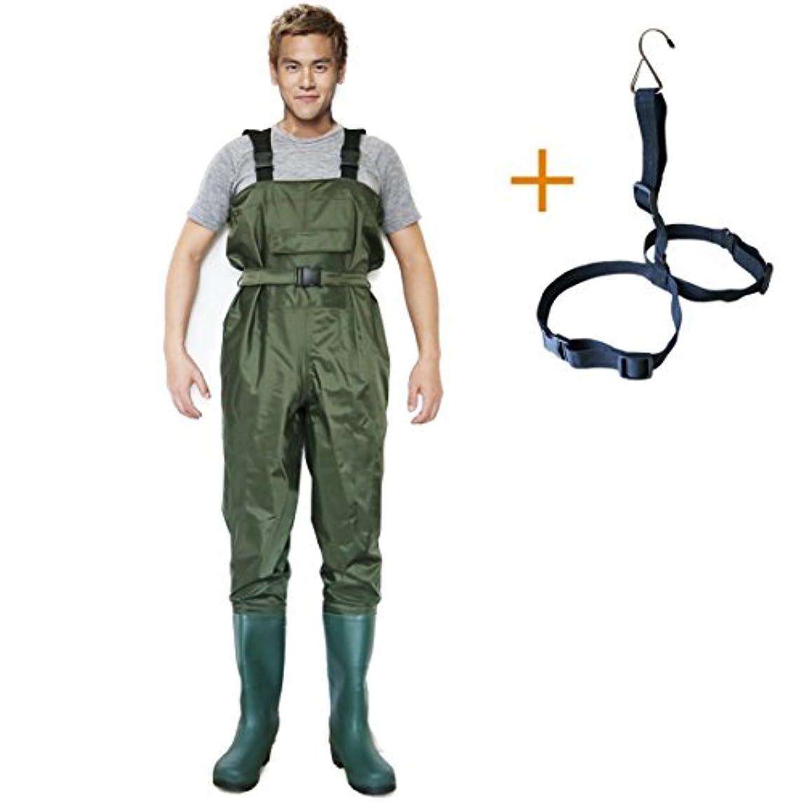 探す唯物論ところでChest Wader釣りHunting Boot足Waders、耐久性防水ライト重量Affortable + Waderハンガー