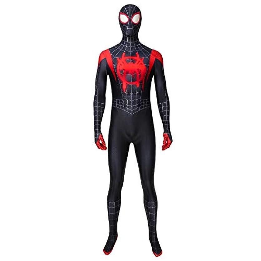 日付回路手綱COSSKY スパイダーマン: スパイダーバース Spider-Man: Into the Spider-Verse マイルス?モラレス Miles Morales コスプレ衣装 cosplay コスチューム コス 仮装 変装 (男性S)