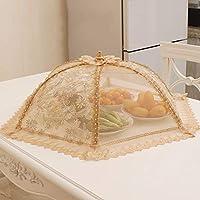 ZPTAT フードカバー 洗える おかずカバーは折り畳み式の食事カバーのテーブルカバーと食品カバーのハエ防止家庭用の円形です。,J,60 cm