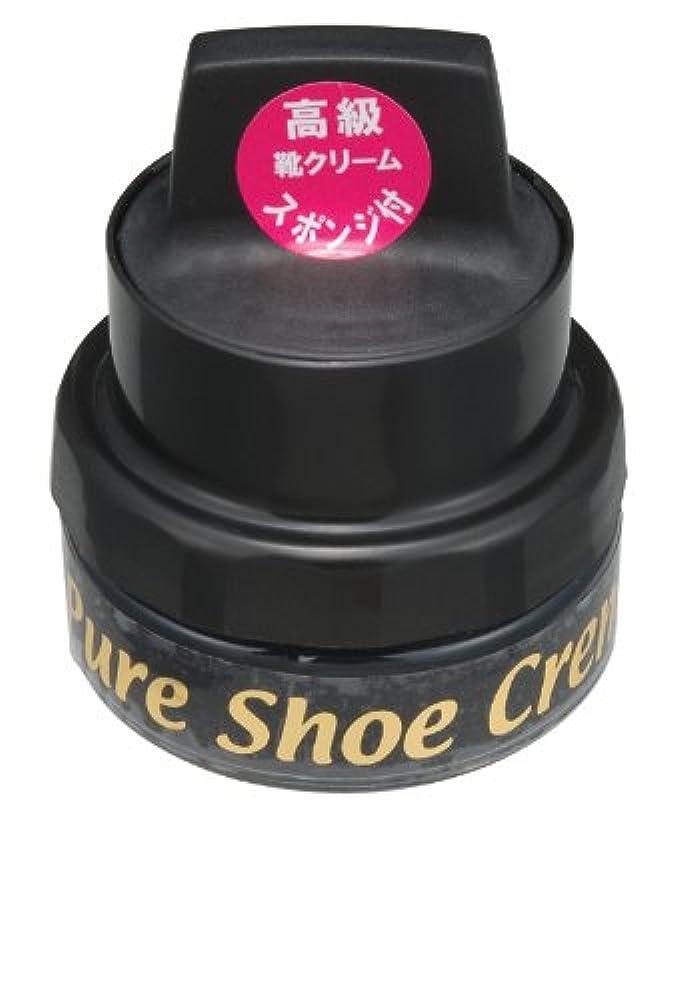二週間改修再生的ライオン 高級靴クリーム 50g スポンジ付き (黒)