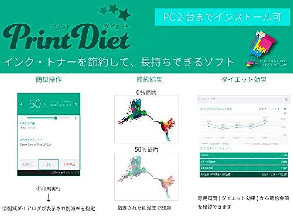 可能にするソーシャル西PrintDiet ライセンス取得カード (2台までインストール可)