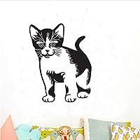 Lixiaoer 人生のような猫の壁のステッカー家の装飾かわいい猫の壁紙キッズルームデカール壁画壁のアート35×44センチ