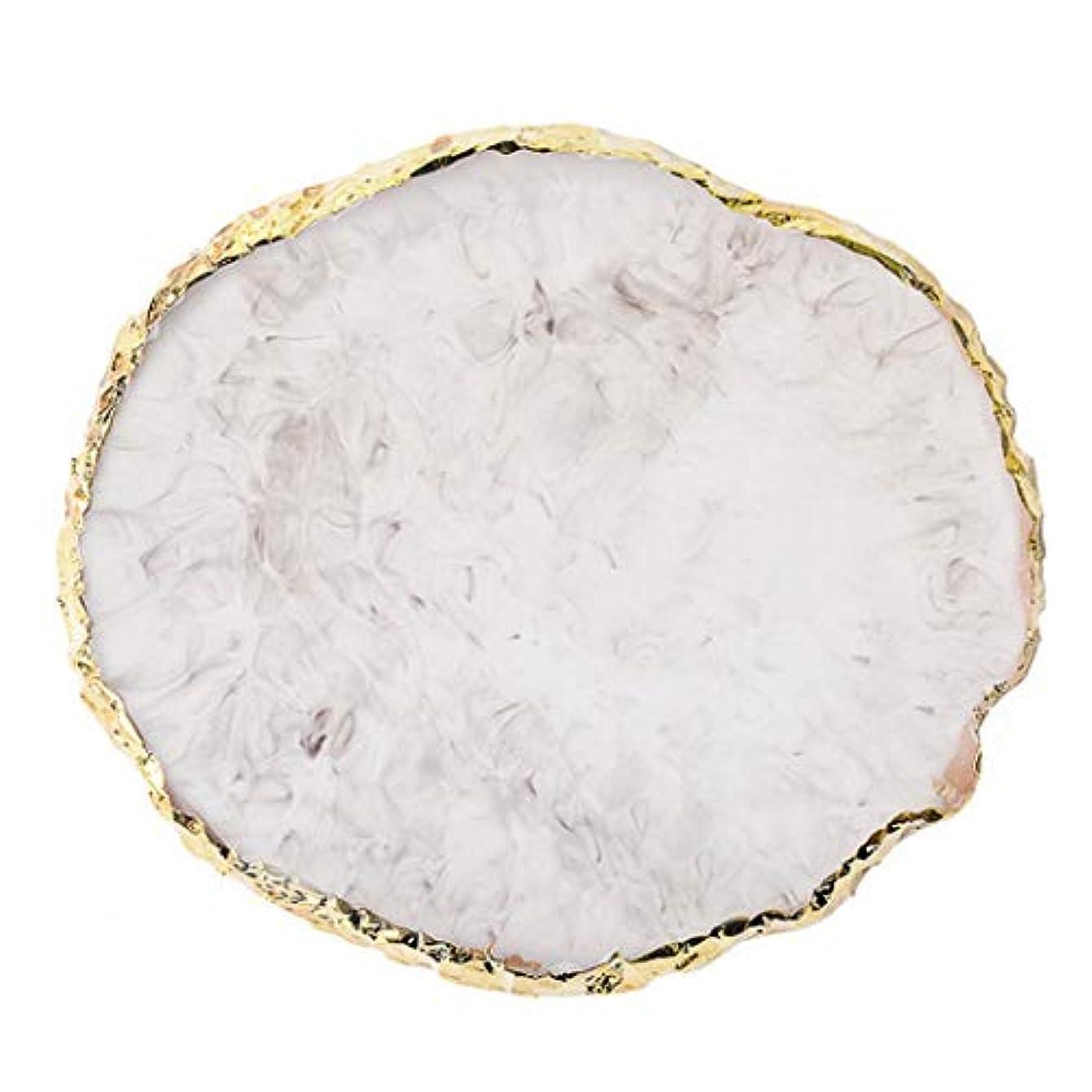 鉱夫壊滅的な一流OU-Kunmlef シンプルな1 pc樹脂ネイルアート塗装ボードを描いてパレットゲル塗装色皿ゴールデンエッジマニキュア釘ディスプレイツール最新(None R)