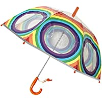 SMATI Kids'Umbrella Dome Transparent - The First Umbrella has Reflective Stripe - Extra safty to Children in The Darkness