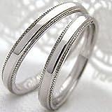 [ジュエリーアイ] 結婚指輪 ペアリング ストレート ミル打ち マリッジリング 2本セット