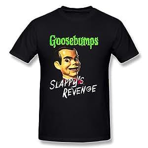 BoAlyn Men's Goosebumps Slappyの復讐Tシャツブラック Size:S