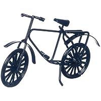 ドールハウスミニチュアLittleブラック自転車by Internationalミニチュア